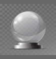 glass transparent crystal globe magic attribute vector image