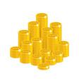 gold bitcoins mountain vector image vector image