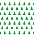 green christmas trees pattern vector image vector image