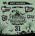Halloween day silhouette collections vector image