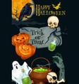 halloween holiday pumpkin monster poster vector image vector image