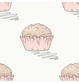 Hand drawn muffin seamless pattern vector image vector image