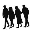 happy senior people walking vector image