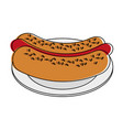 hot dog fast food vector image vector image