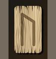 isolated on white wooden rune uruz vector image vector image