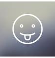 Joker thin line icon vector image vector image