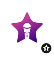 karaoke star logo vector image vector image