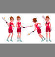 lacrosse female player high school or vector image vector image