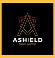 letter a shield logo vector image vector image