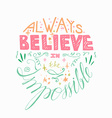 Lettering motivation poster vector image vector image