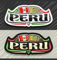 logo for peru vector image