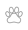 logo paw logo animals the trail legs of the vector image