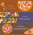 making pizza fresh ingredients for pizza vector image