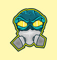 mask graffiti vector image