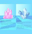 natural resources and minerals vector image vector image