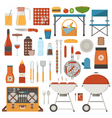 Picnic Elements Set vector image
