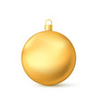 realistic golden christmas ball new years toy vector image vector image
