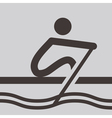 Rowing icon vector image vector image