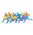 running race marathon vector image vector image