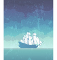 sailboat with white sails vector image