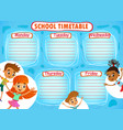 school timetable thematic image vector image
