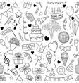 seamless pattern hand drawn doodle cartoon vector image vector image