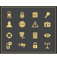 Security and warning icons vector image vector image
