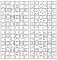 set puzzles vector image