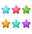 set six color star icon vector image