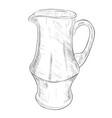 sketch of jug vector image vector image