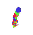 sweden map with regions vector image vector image