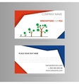 Template business card with growth icon vector image