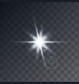 transparent sunlight white color vector image