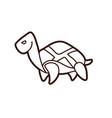 turtle cartoon graphic vector image vector image