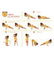 Twenty Minute full body workout vector image