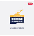 two color wireless keyboard icon from ultimate vector image vector image