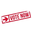 Vote now stamp vector image