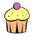 cupcake icon cartoon vector image