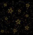 holiday bright seamless stars pattern vector image
