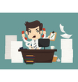 Businessman work hard and busy vector image