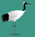 red crowned crane cartoon vector image