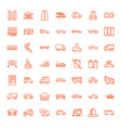 49 car icons vector image vector image