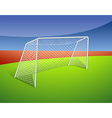 A soccer goal vector image