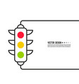 abstract background with traffic light vector image