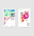 abstract posters triangular design geometric vector image vector image