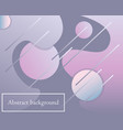 background with gradient modern shapes vector image vector image