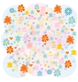 Background with multicolored flowers vector image