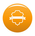 badge guardian icon orange vector image vector image