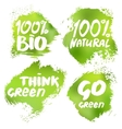 Banners with eco lettering vector image vector image