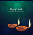 beautiful diwali festival diya background with vector image vector image